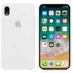 Чехол Apple silicone case for iPhone XR White