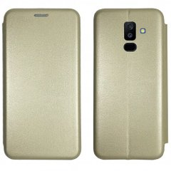 Чехол-книжка Level for Samsung A6 Plus 2018 Gold