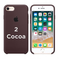 Чехол Apple silicone case for iPhone 7/8 Cocoa