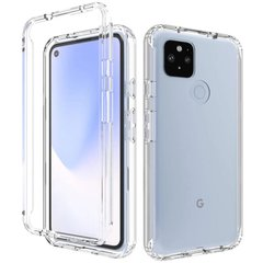 Чехол TPU+PC Full Body с защитой 360 для Google Pixel 5, Прозрачный