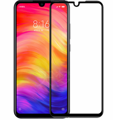 3D стекло  Xiaomi Redmi Note 7 Черное - Full Cover