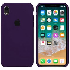 Чехол Apple silicone case for iPhone XR Ultra Violet