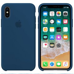 Чехол Apple silicone case for iPhone X/XS Blue Cobalt