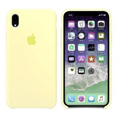 Чехол Apple silicone case for iPhone XR Mellow Yellow