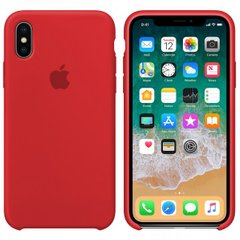 Чехол Apple silicone case for iPhone X/XS Red