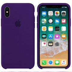 Чехол Apple silicone case for iPhone X/XS Ultra Violet