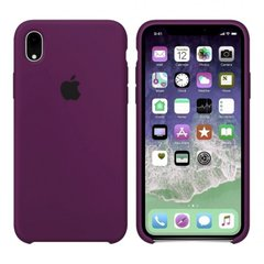 Чехол Apple silicone case for iPhone XR Marsala