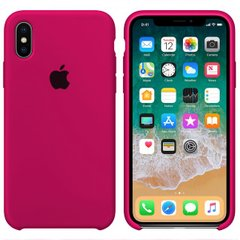 Чехол Apple silicone case for iPhone X/XS Hot Pink