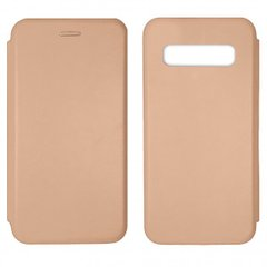 Чехол-книжка Level for Samsung S10 Rose Gold