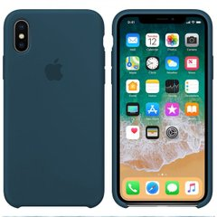 Чехол Apple silicone case for iPhone X/XS Mist Blue