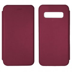 Чехол-книжка Level for Samsung S10 Marsala